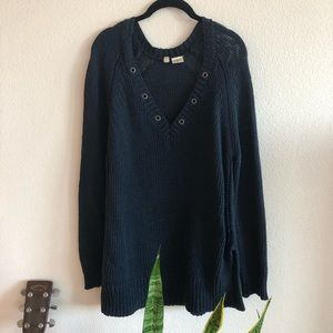 Anthropologie Moth oversized knit sweater